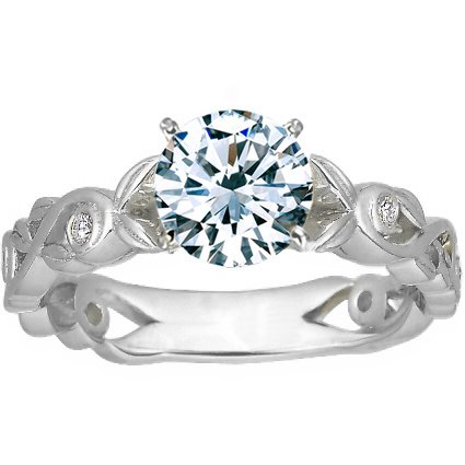 18K White Gold Forever Spring Diamond Ring, top view