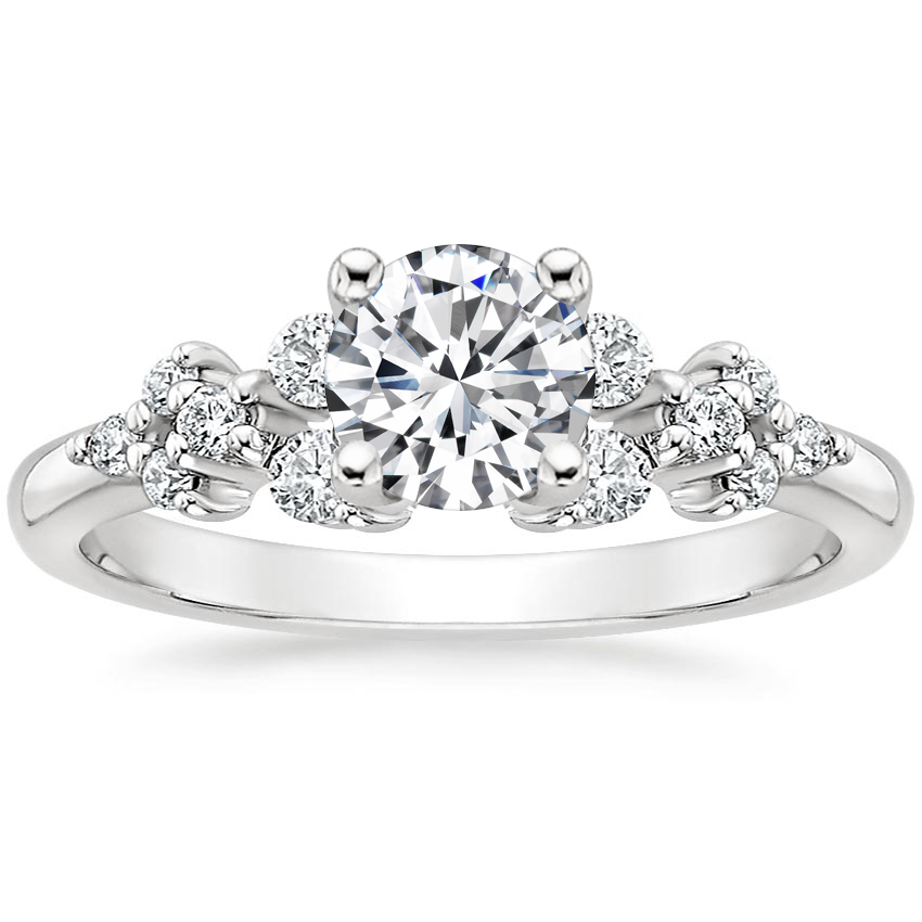 Round Platinum Effervescence Diamond Ring
