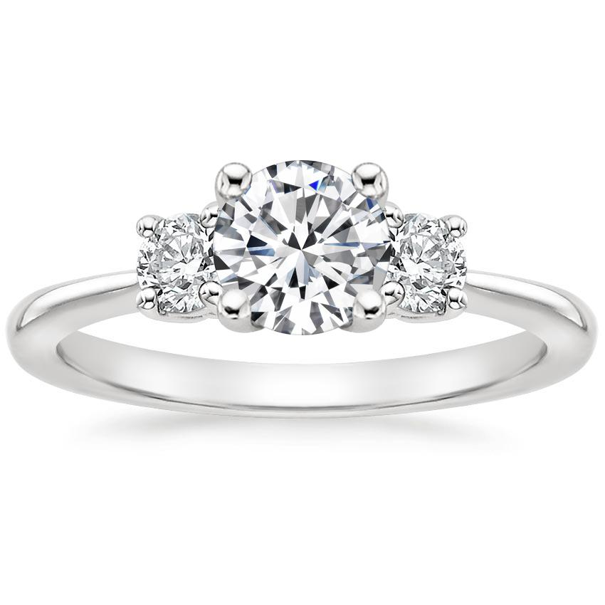 Round Platinum Serena Diamond Ring (1/3 ct. tw.)