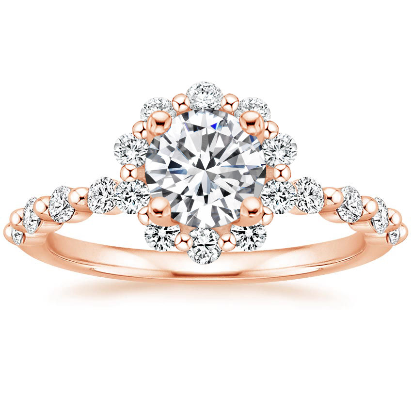 Round 14K Rose Gold Marseille Halo Diamond Ring (1/2 ct. tw.)