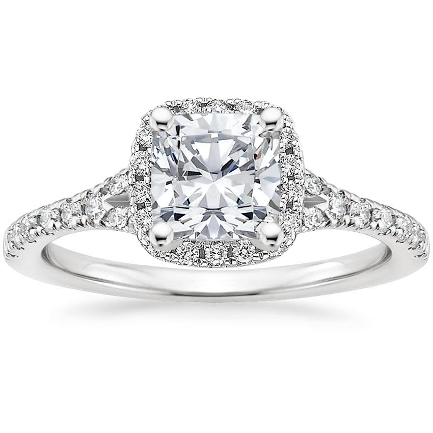 Cushion Platinum Joy Diamond Ring