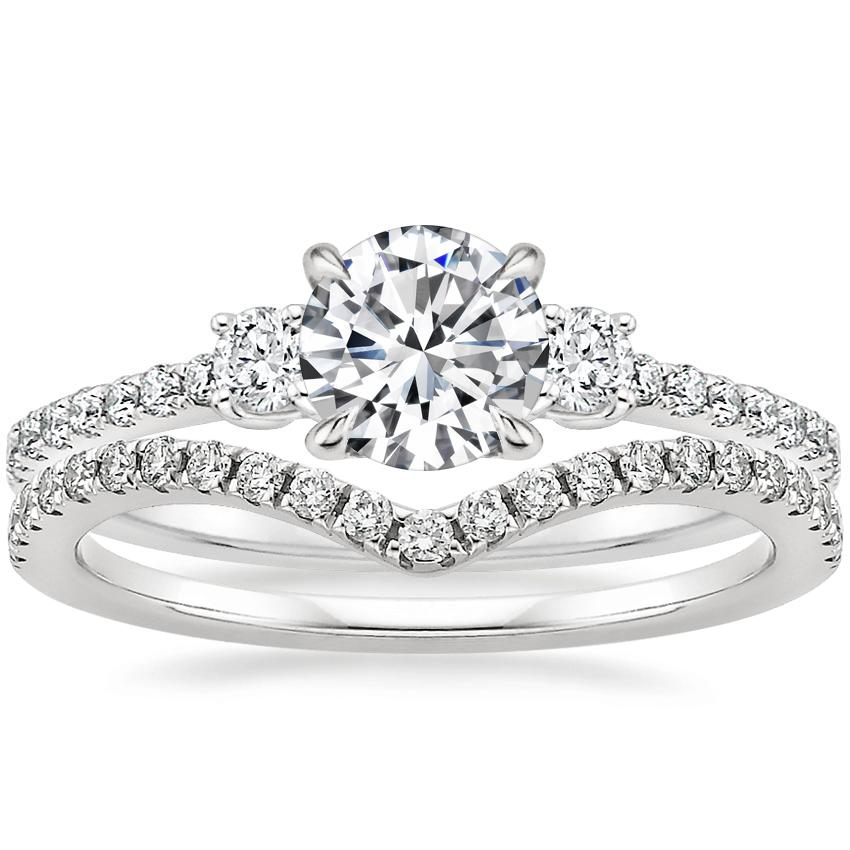 18K White Gold Lyra Diamond Ring (1/4 ct. tw.) with Flair Diamond Ring