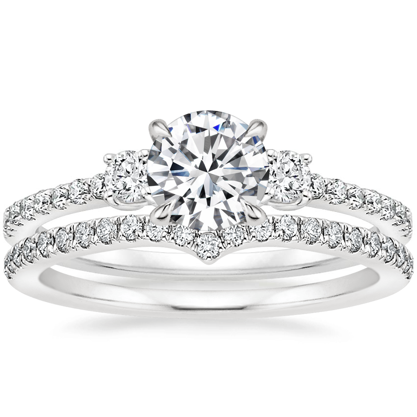 18K White Gold Lyra Diamond Ring (1/4 ct. tw.) with Verita Diamond Ring