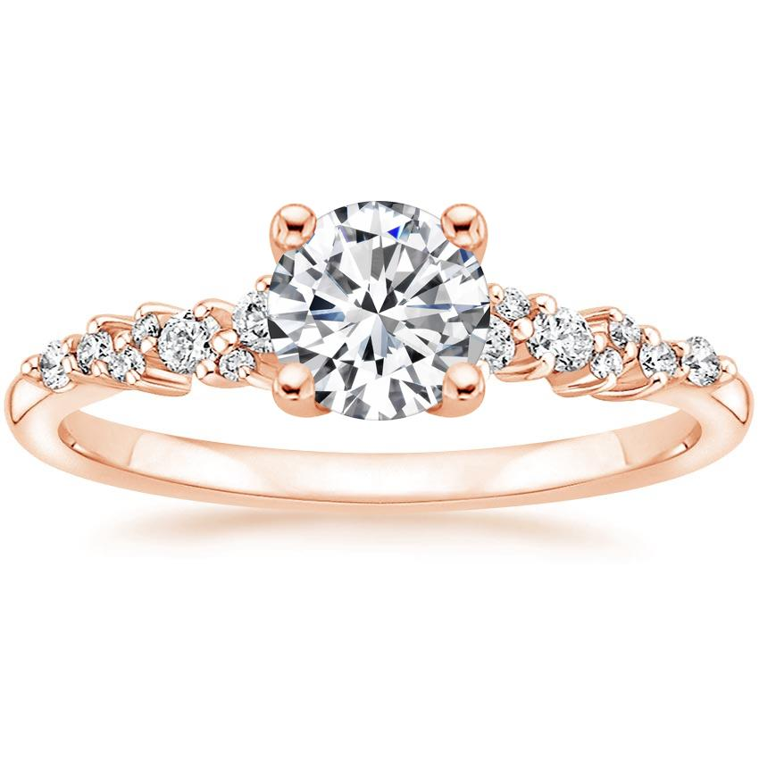 Round Scattered Prong Diamond Ring