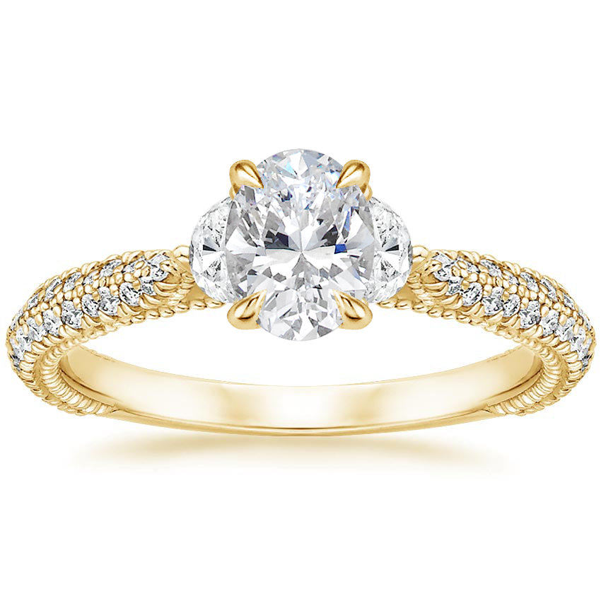 Oval 18K Yellow Gold Rosemont Diamond Ring
