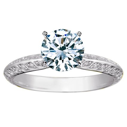 Platinum Luxe Garland Diamond Ring, top view