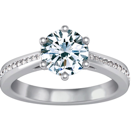 18K White Gold Luminesce Ring (1/5 ct.tw.), top view
