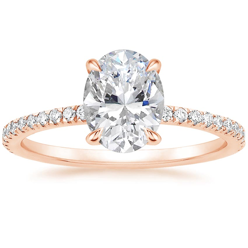Oval 14K Rose Gold Viviana Diamond Ring (1/3 ct. tw.)
