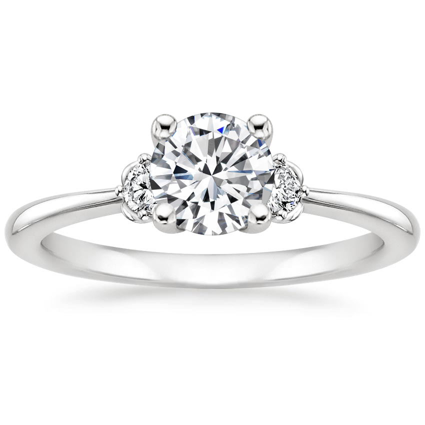 Round 18K White Gold Blossom Diamond Ring (1/10 ct. tw.)