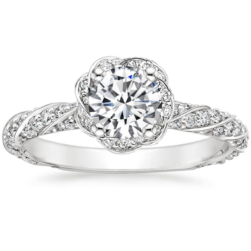 Round 18K White Gold Cordoba Diamond Ring (1/2 ct. tw.)