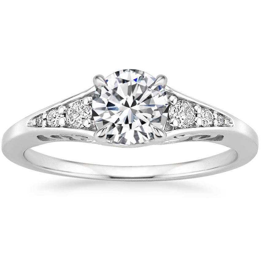 Round Art Deco-Inspired Engagement Ring