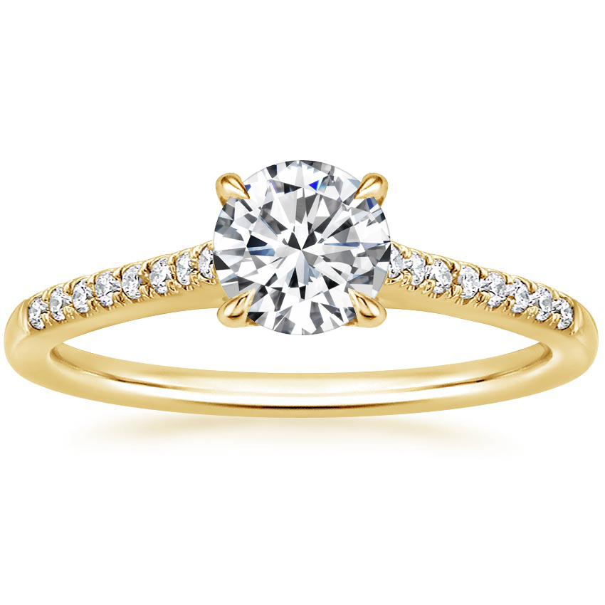 Round 18K Yellow Gold Lissome Diamond Ring (1/10 ct. tw.)