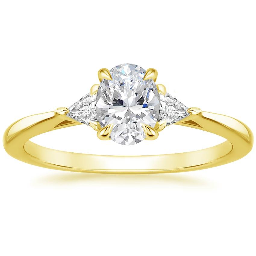 18K Yellow Gold Esprit Diamond Ring, top view