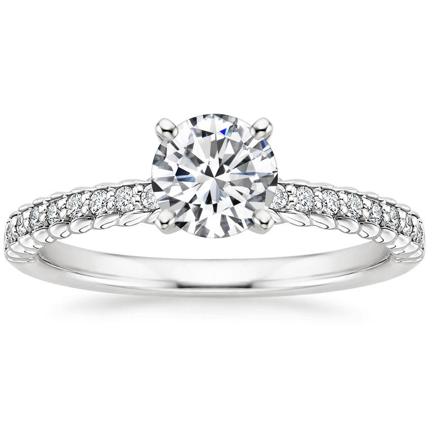 Round Rope Engagement Ring