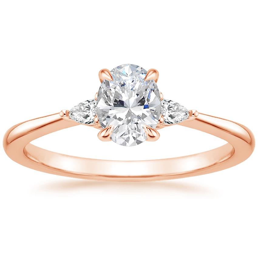 Oval 14K Rose Gold Aria Diamond Ring (1/10 ct. tw.)