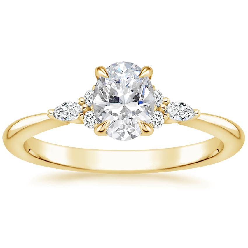 Oval 18K Yellow Gold Nadia Diamond Ring