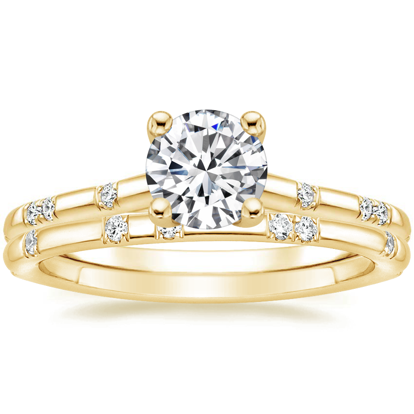 18K Yellow Gold Astra Diamond Ring with Astra Diamond Ring