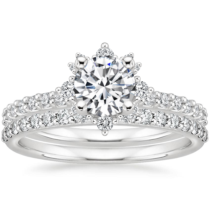 18K White Gold Arabella Diamond Bridal Set (1/2 ct. tw.)