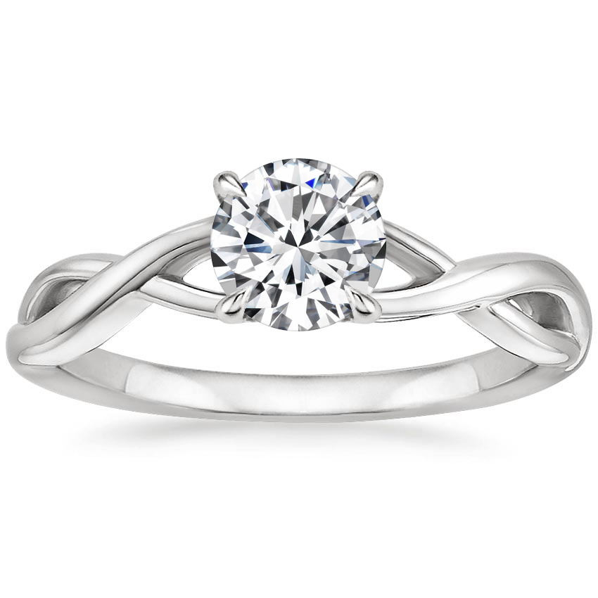 Round Vine Gallery Diamond Ring