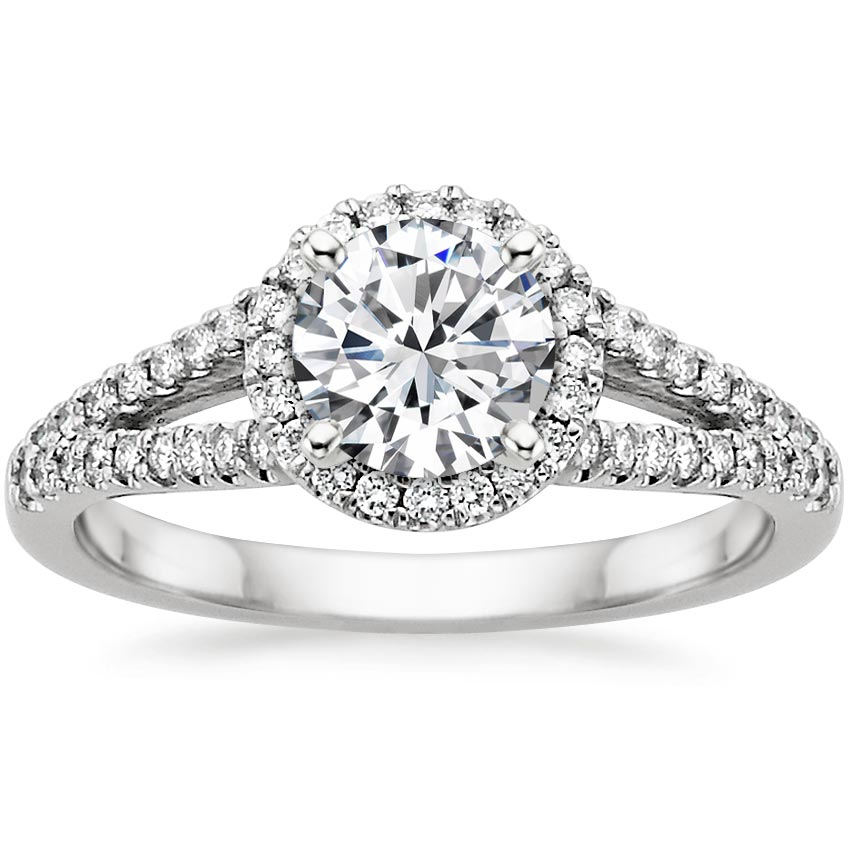18K White Gold Aurora Diamond Ring (1/4 ct. tw.), top view