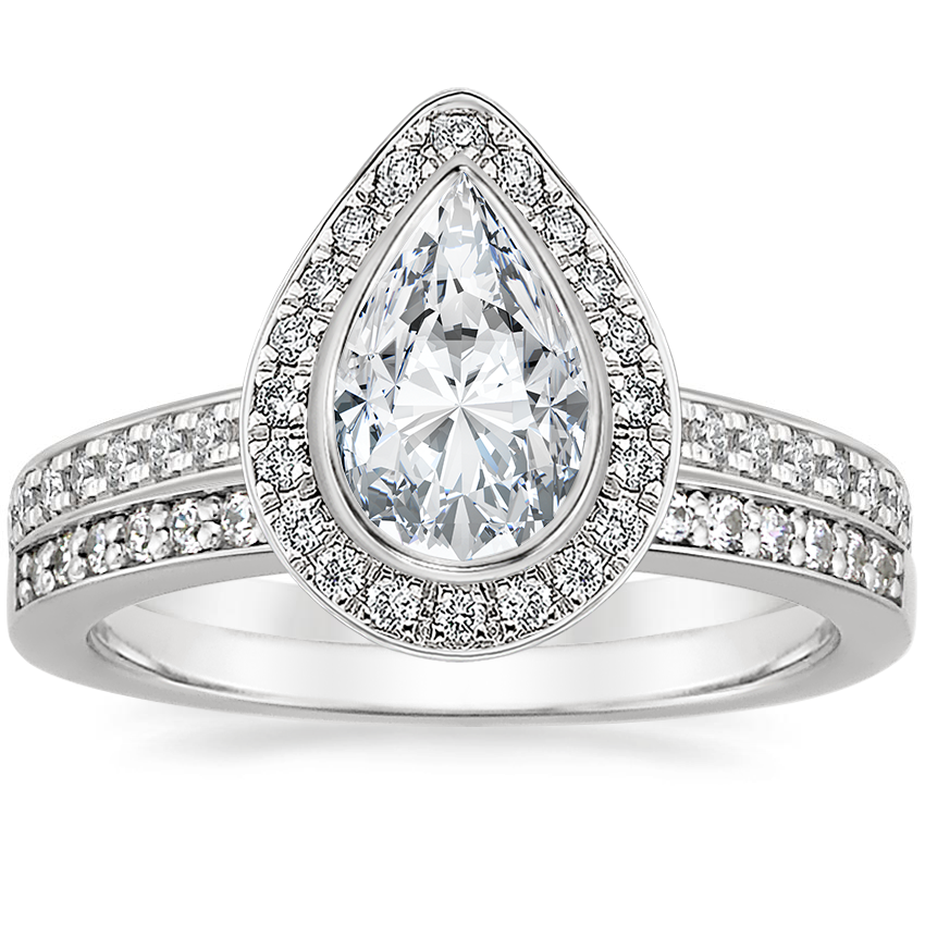 Platinum Malia Diamond Ring (1/4 ct. tw.) with Starlight Diamond Ring (1/8 ct. tw.)