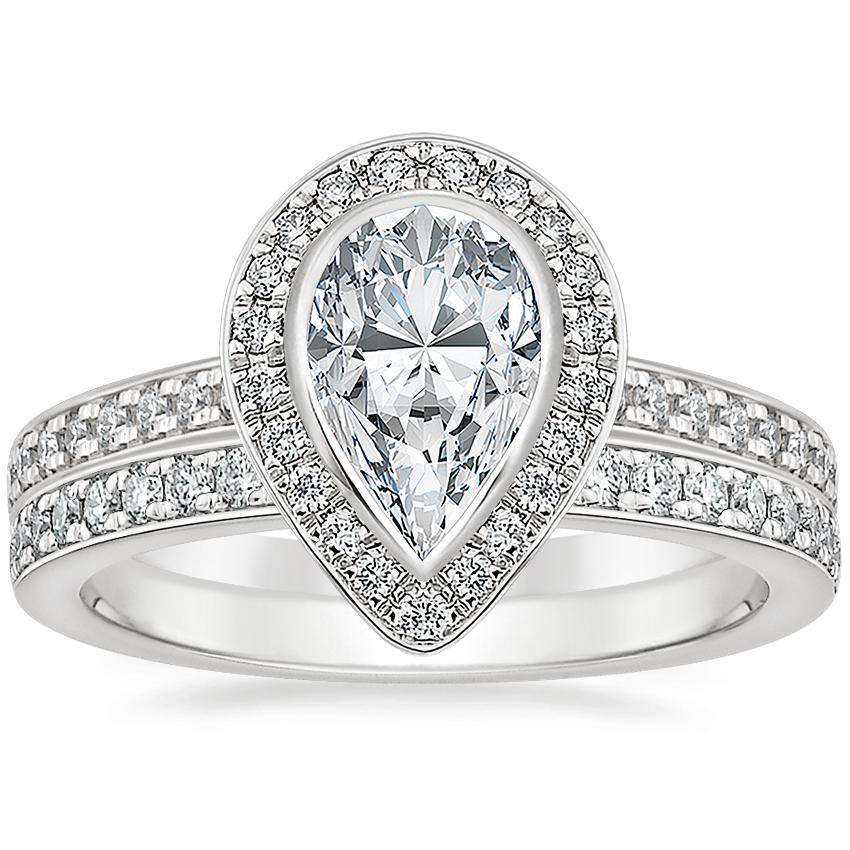 Platinum Malia Diamond Ring (1/4 ct. tw.) with Geneva Diamond Ring