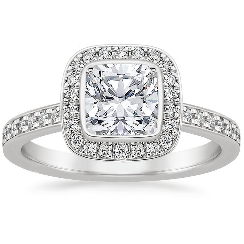 Cushion Platinum Malia Diamond Ring (1/4 ct. tw.)