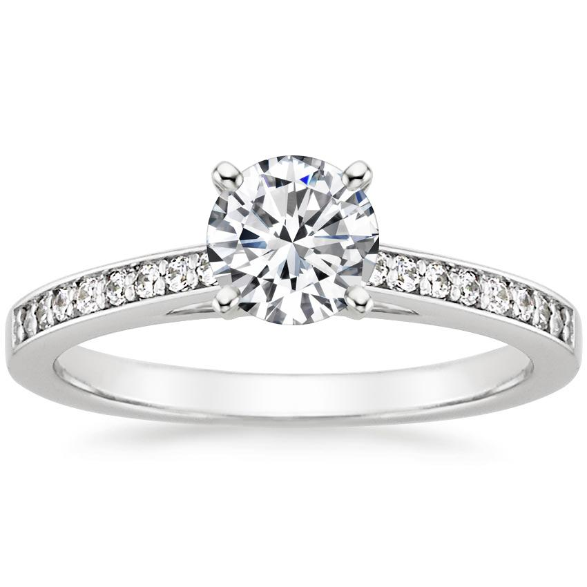 Round Pavé Engagement Ring Setting