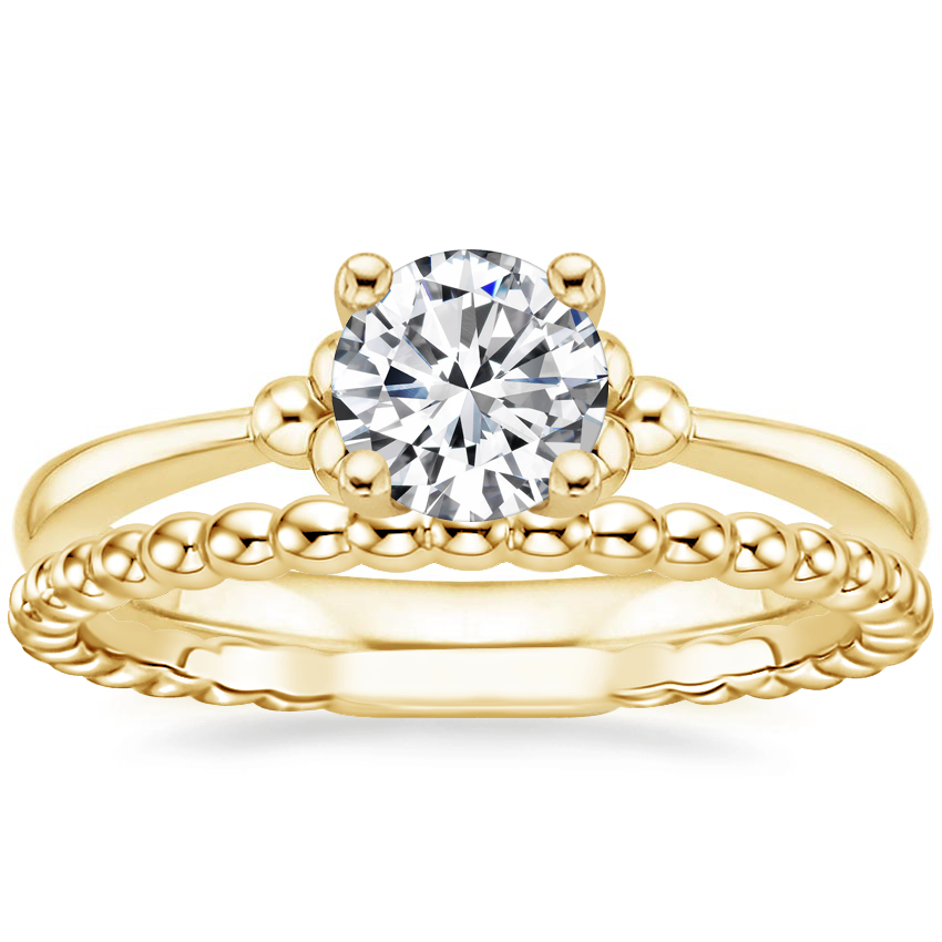 18K Yellow Gold Soiree Ring with Juliet Ring