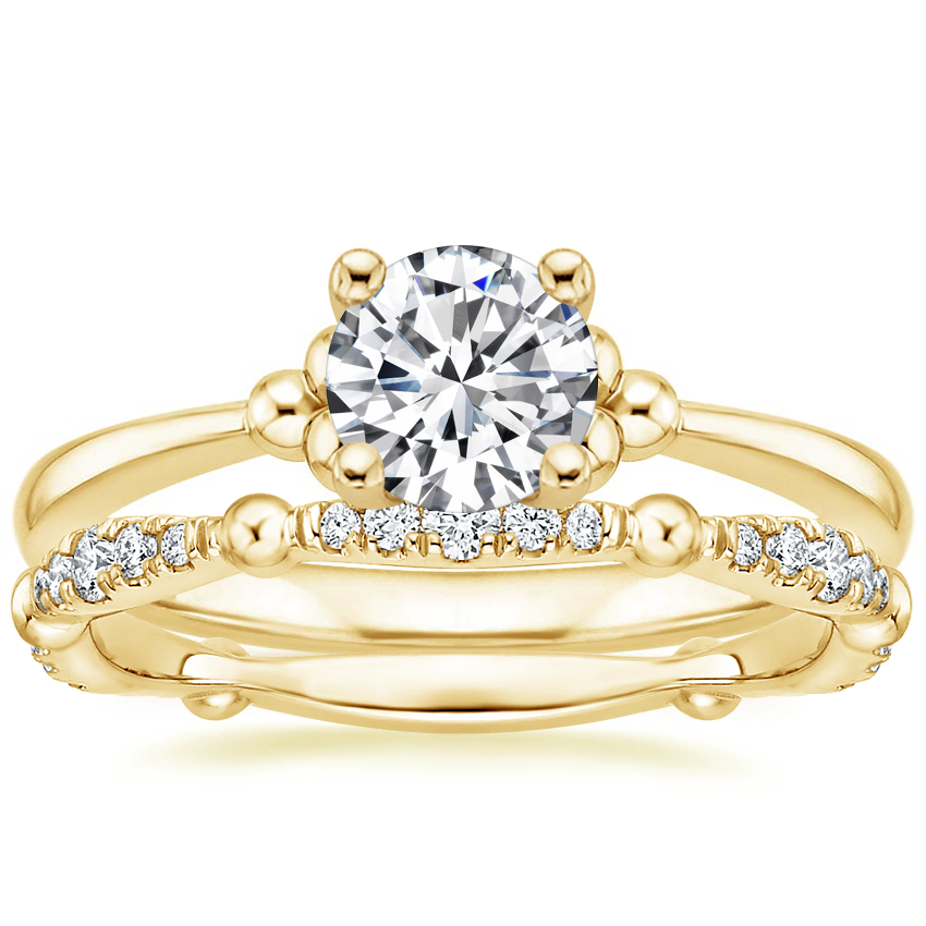 18K Yellow Gold Soiree Ring with Dolce Diamond Ring