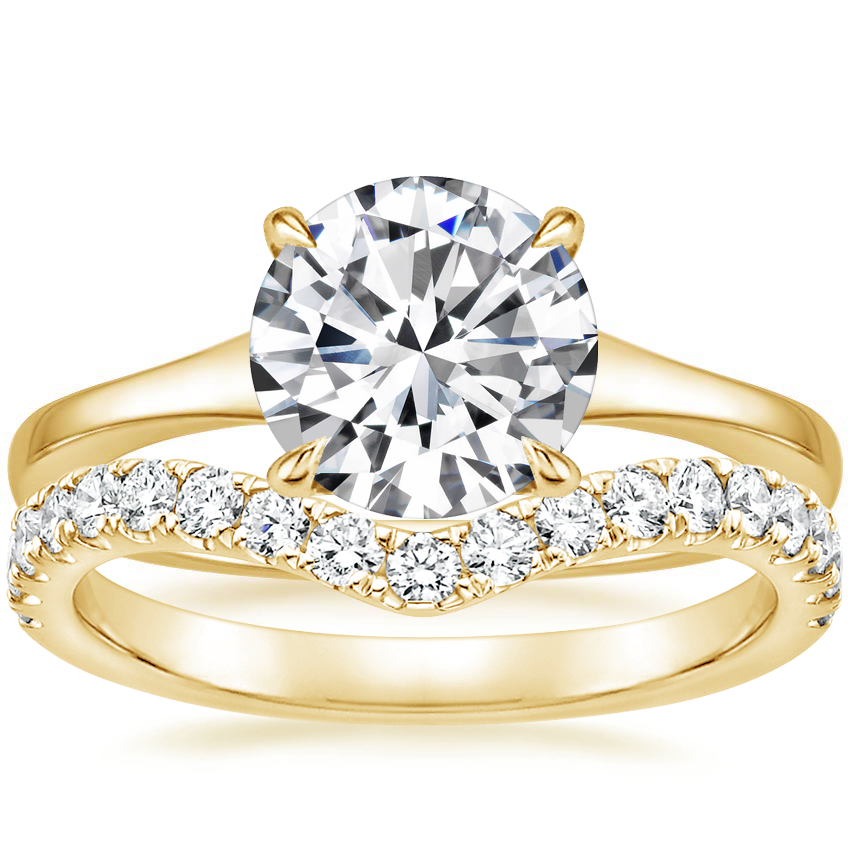 18K Yellow Gold Muse Ring with Luxe Flair Diamond Ring (1/3 ct. tw.)