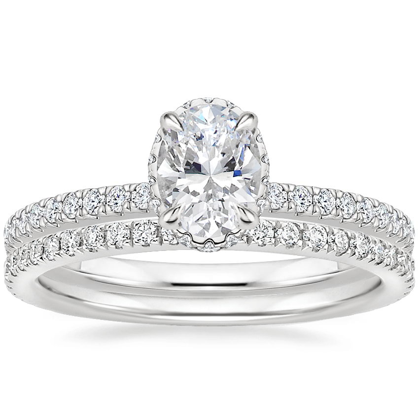 Platinum Gala Diamond Ring with Luxe Ballad Diamond Ring (1/4 ct. tw.)