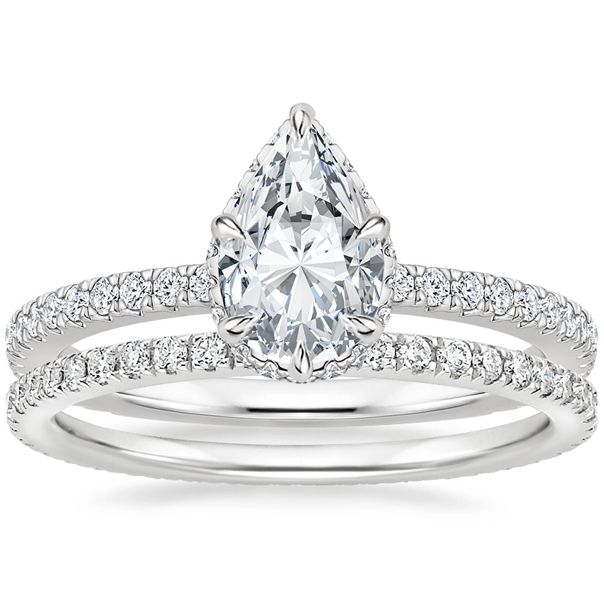 Platinum Gala Diamond Ring with Ballad Eternity Diamond Ring (1/3 ct. tw.)