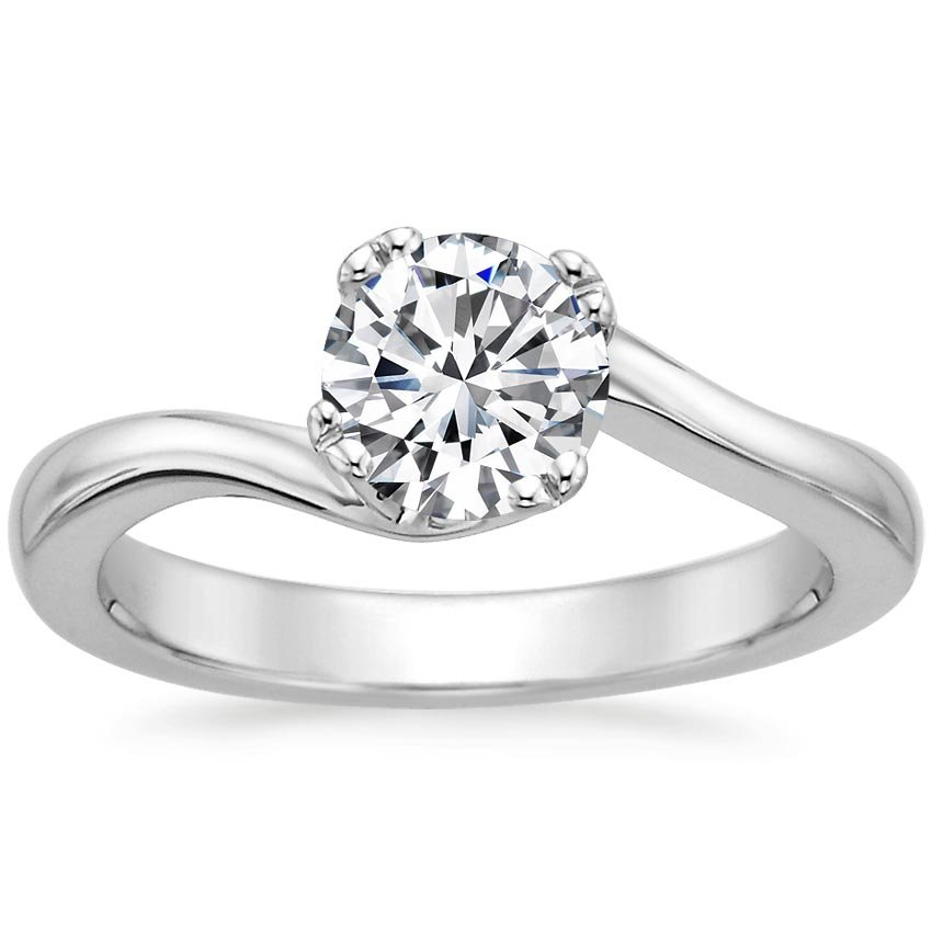 Round Solitaire Engagement Ring Modern