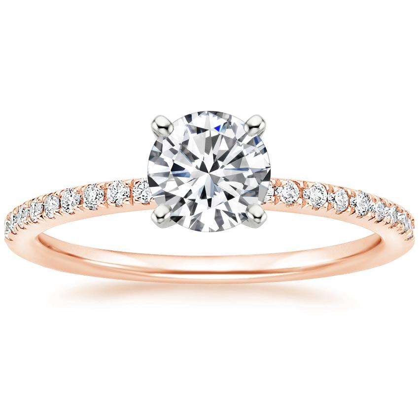 Round 14K Rose Gold Ballad Diamond Ring (1/8 ct. tw.)
