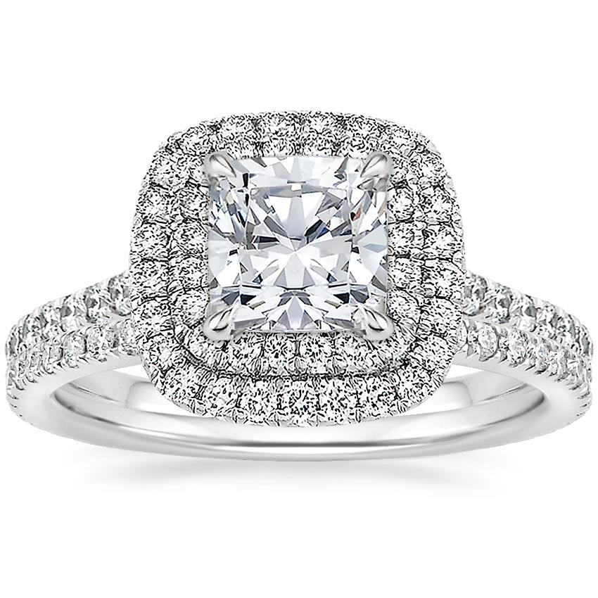 18K White Gold Soleil Diamond Ring with Luxe Ballad Diamond Ring (1/4 ct. tw.)