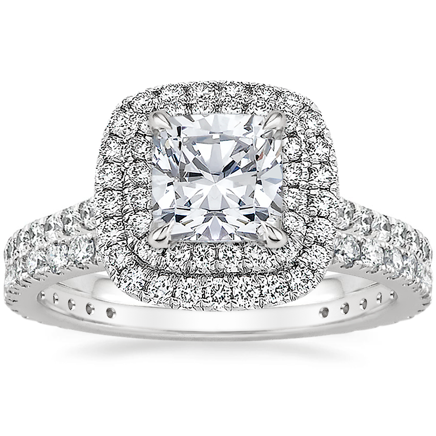 Platinum Soleil Diamond Ring (1/2 ct. tw.) with Luxe Bliss Diamond Ring (1/3 ct. tw.)