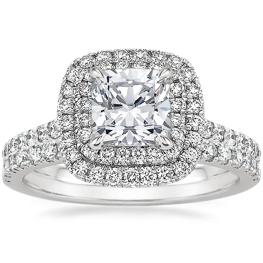 Platinum Soleil Diamond Ring with Bliss Diamond Ring (1/5 ct. tw.)