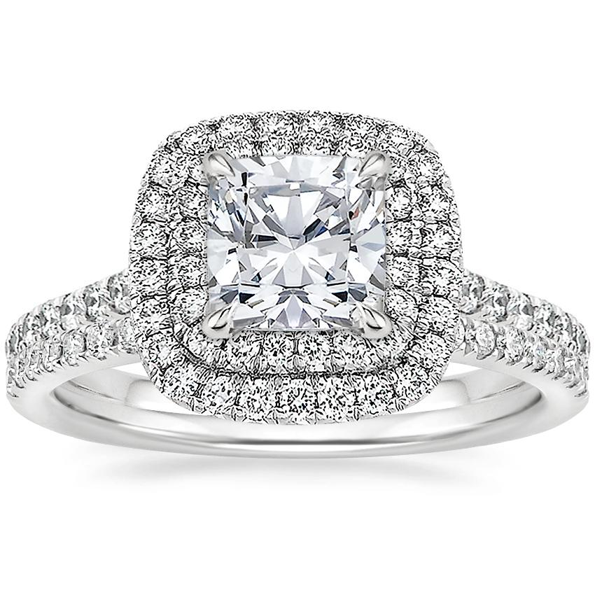 18K White Gold Soleil Diamond Ring with Ballad Diamond Ring (1/6 ct. tw.)