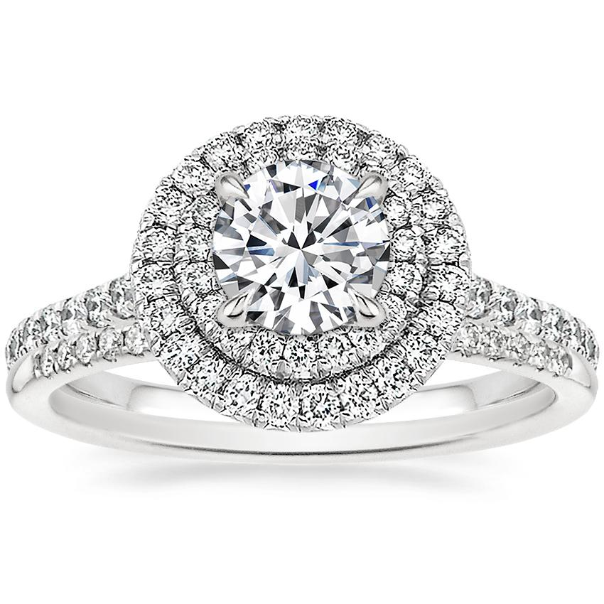 Platinum Soleil Diamond Ring with Whisper Diamond Ring (1/10 ct. tw.)