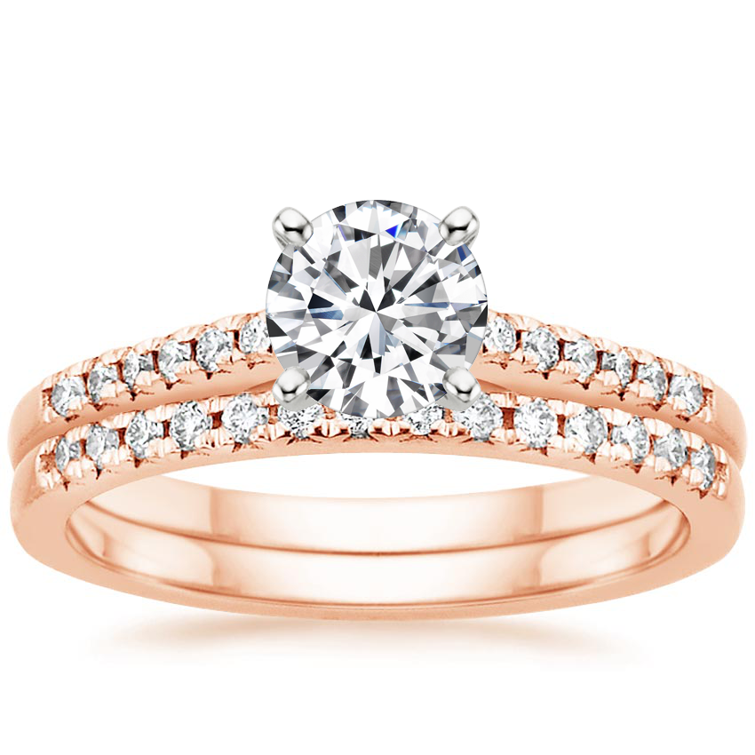 14K Rose Gold Sonora Diamond Bridal Set (1/4 ct. tw.)