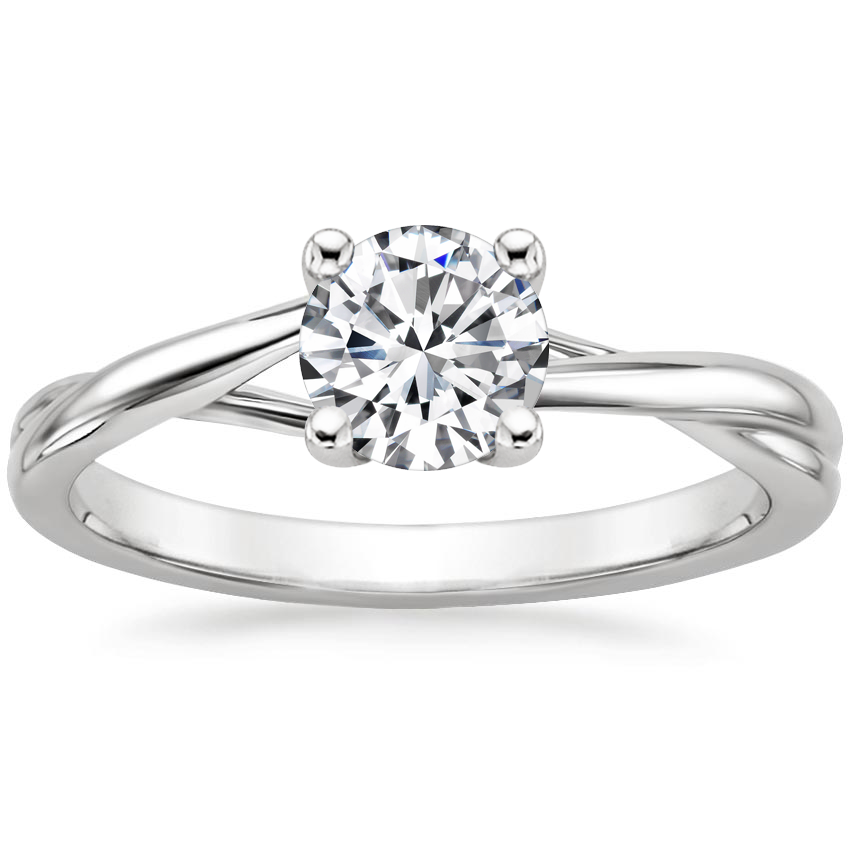 Round Platinum Grace Ring