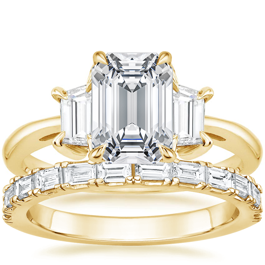 18K Yellow Gold Embrace Diamond Ring with Gemma Diamond Ring (1/2 ct. tw.)