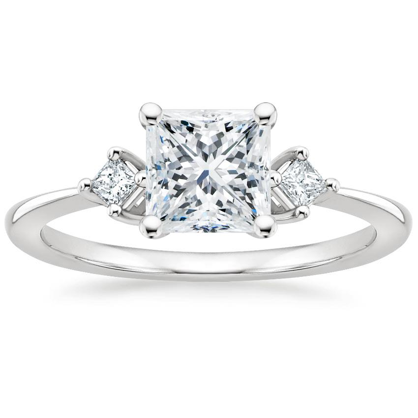 Princess Princess Three Stone Diamond Ring
