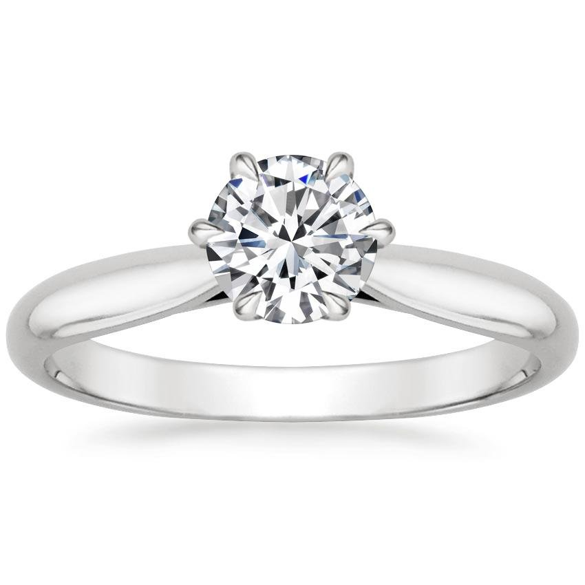 Round 18K White Gold Catalina Ring
