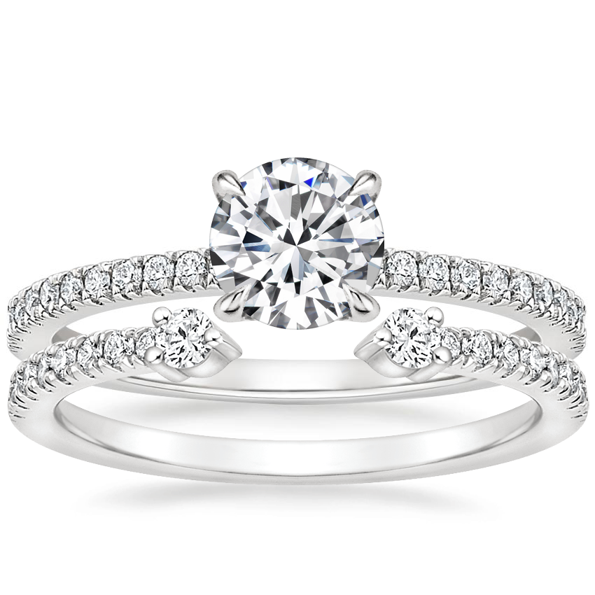 18K White Gold Viviana Diamond Ring (1/4 ct. tw.) with Rowan Diamond Ring