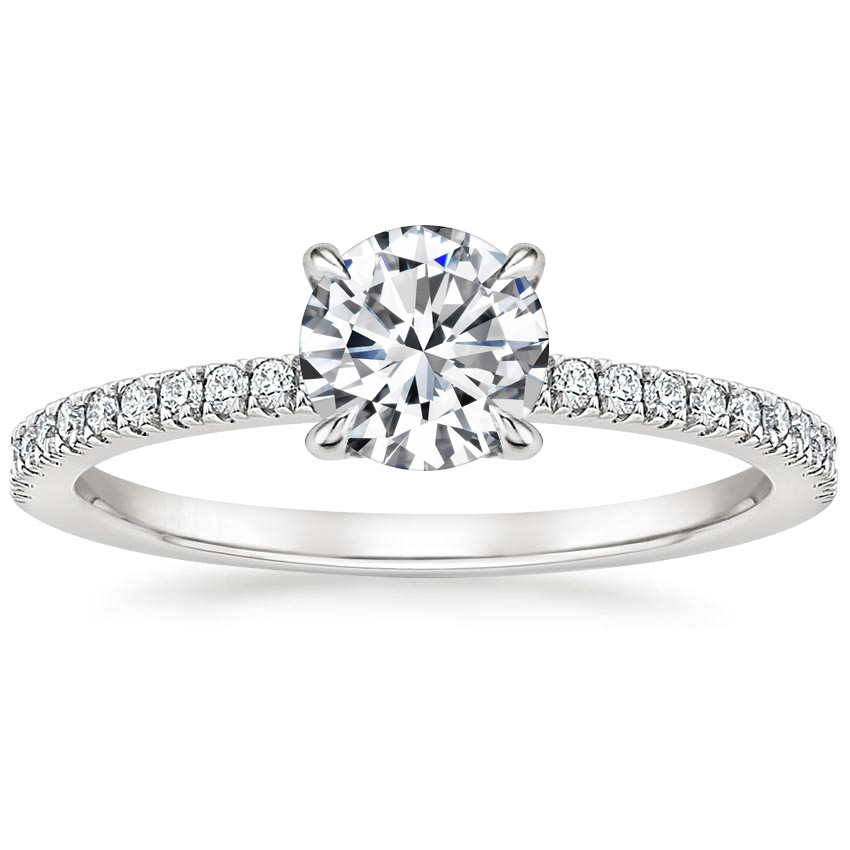 Round Diamond Gallery Ring