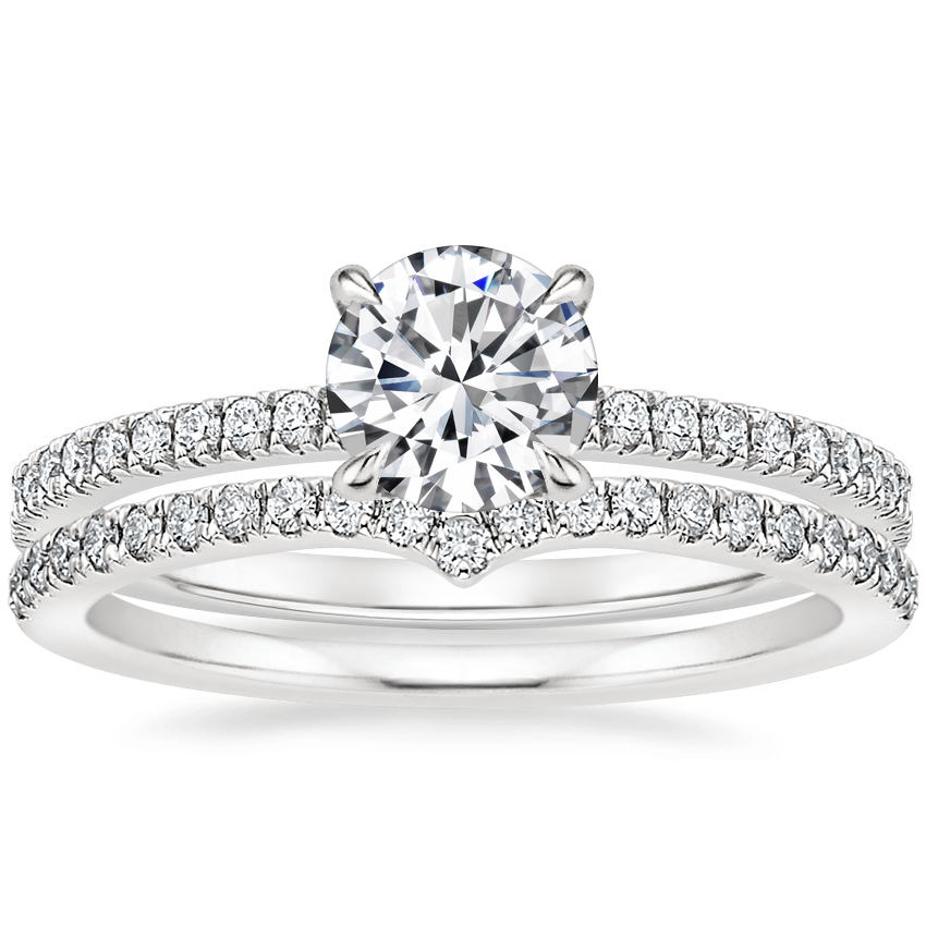 18K White Gold Viviana Diamond Ring (1/4 ct. tw.) with Verita Diamond Ring