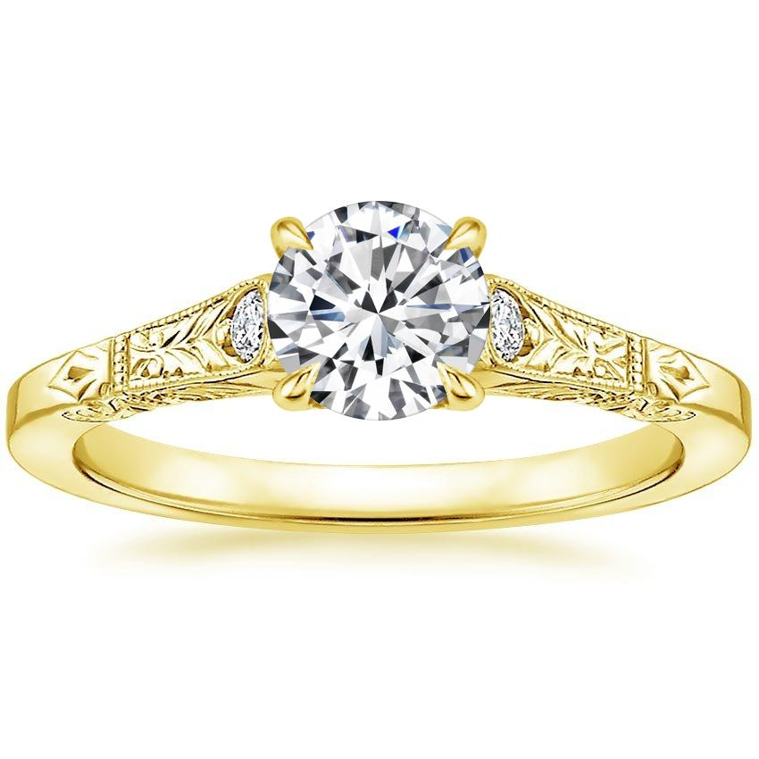 Round 18K Yellow Gold Valentina Diamond Ring
