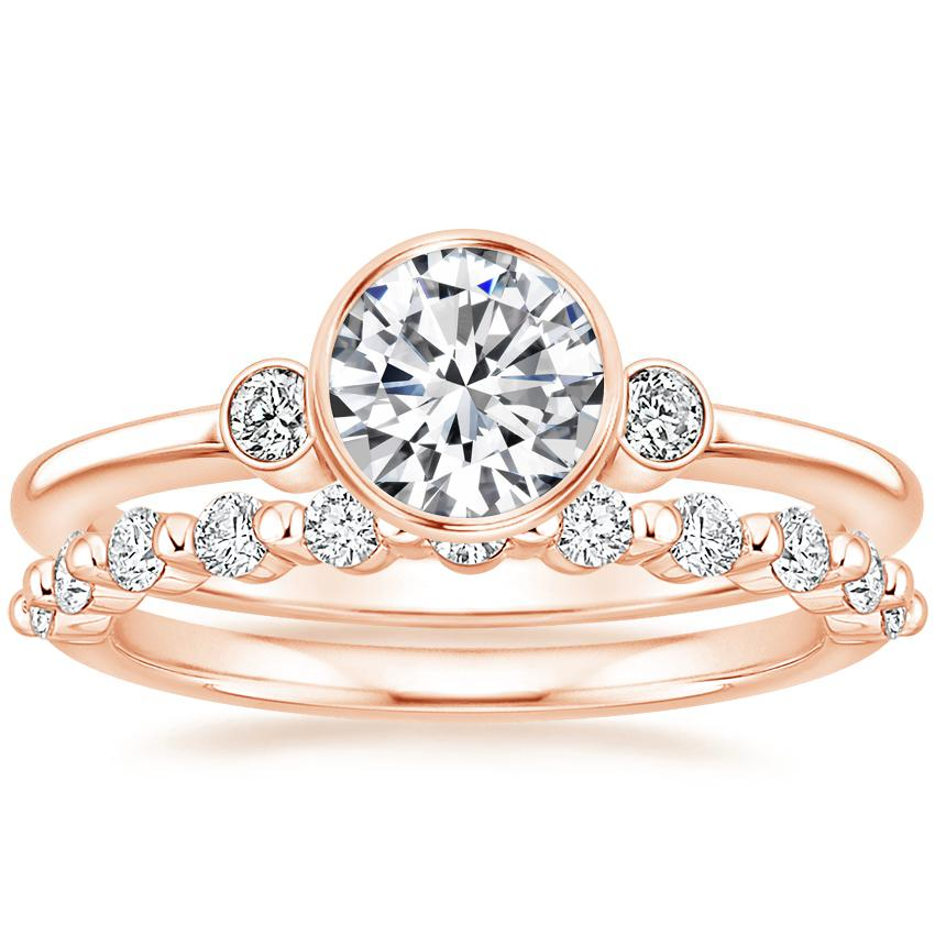 14K Rose Gold Mila Diamond Ring with Marseille Diamond Ring (1/3 ct. tw.)